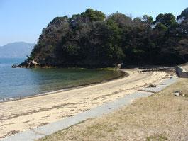 上関温泉近くの海水浴場