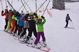 Gaudiwurm beim Kinder- und Erwachsenenskikurs SV-DJK Heufeld, Skiteam, Saison 2018 - 2019