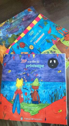 La trilogie fantastique jeunesse écrite par Marie-Françoise Bongiovanni et illustré par Cloé Perrotin