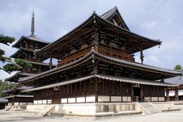 奈良法隆寺:パゴダルーフ(軒反り)
