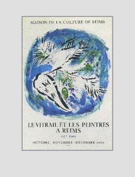 Marc Chagall litho aff. 119 L'ANGE SUR FON BLUE, 1969