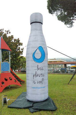 Bottiglia Blu Pura h 4m