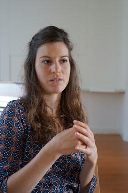 Antonia Gasser beim Interview / Foto: Manuela Ming