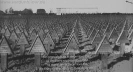 Friedhof im Dezember 1937 - im Hintergrund die im Bau befindliche Gedenkhalle
