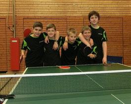 Von links nach rechts: Simon Öner, Alexander Schilke, Hannes Hüttner, Jakob Gönner, Luzian Göhring.