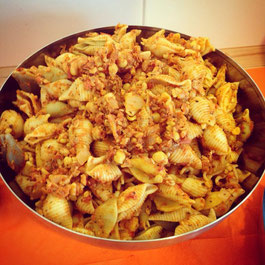Chorizo-Kichererbsen-Nudeln, vegan