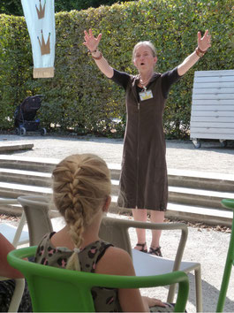 Maerena in der Probenbühne