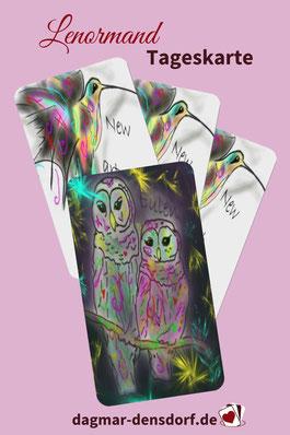 Lenormandtageskarte Eulen New Art Lenormand