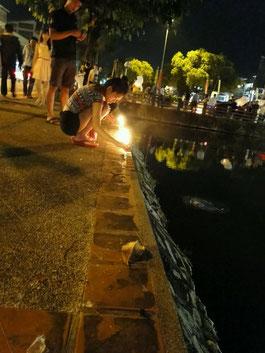 Lichter auch am Ufer