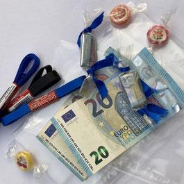 Geldschein Bonbons als Geldgeschenk zur Jugendweihe