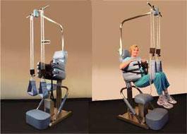 腰痛専用治療器プロテック 施術イメージ写真