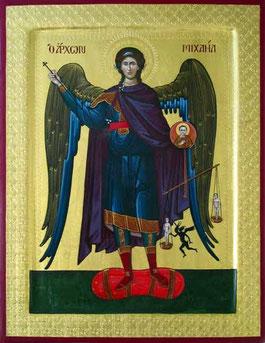 Icône de l'Archange Michel par l'iconographe Mr. Tauk
