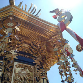 十社大神の御神輿 令和元年に修復してから初めての御神幸