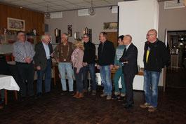 Foto von links: Hans-Georg Hackfeld, Ludwig Jürgens, Erich Schoone, Kerstin und Jörg Münkenwarf, Hartmut Tammen-Henke, Christine Will, Holger Barkowsky, Howard Jacques.