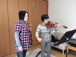 うすだ音楽教室バイオリンレッスンの様子