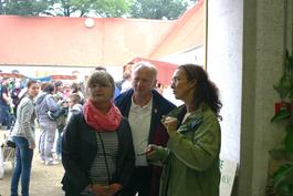 Der Bürgermeister von Großkmehlen Herr Dr. Müller-Hagen an unserem Informationsstand.