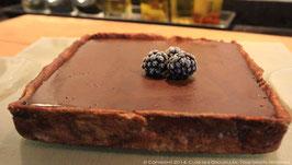 Le carré Marlène aux deux chocolats, mûres de ronces à la cannelle