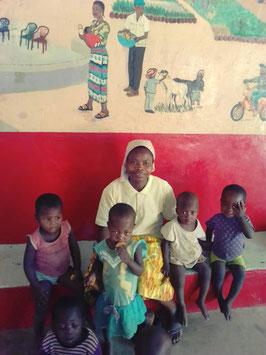 Suor Bernadette responsabile Centro Nutrizionale