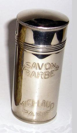MICHAUD PARIS - ANCIEN SAVON A BARBE :  BOÎTE INOX