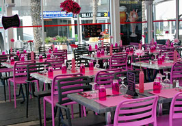 Pink, Modefarbe, Restaurant, Gedeck