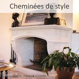 Cheminées traditionelles en pierre - Cheminées de style - Tout en pierre (Var)