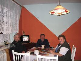 gutes Essen,warme Kueche,erster Abend in Polen