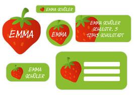 Schulaufkleber Set - verschiedene Formate Namensaufkleber für Schüler