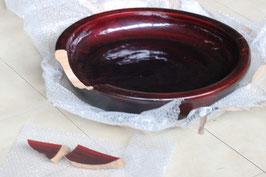割れた蕎麦こね鉢の修理