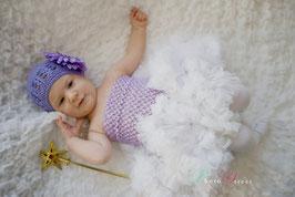 Beanie Mütze mit großer Blume, Mädchen baby Mütze, Fotografie, Tutu, Taufe, Hochzeit, Outfit