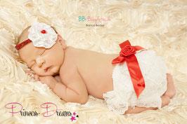 Neugeborenen Outfit Weihnachten X-Mas Santa Claus Set Outfit Haarband Mütze Hose Kleid Stirnband Weihnachtsoutfit Weihnachtsset Baby Neugeborene Newborn Prop Requisiten Foto-Set,Neugeborenen Outfit Mädchen Neugeborenenfotografie Kleidung für Mädchen Junge