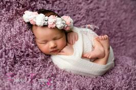 Neugeborenen Set, baby Set Fotoshooting, Shooting, Fotografen-Requisiten, Pucken, Wrappen, Haarband Haarkranz Kranz Neugeborene baby Mädchen