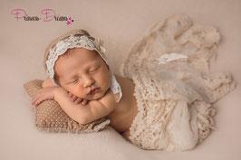 Neugeborenen Haube Bonnet Mütze , Baby Bonnet Haube Mütze Set Outfit Haarband Pillow Kissen Herso Deko Accessoires Neugeborenenfotografie  Babyfotografie Babyshooting Neugeborenenshooting Babybilder