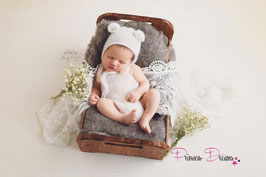 Neugeborenen Mohair Strick Mädchen Jungen Boy Girl Set Outfit Baby Fotoshooting Baby photoshoot Outfit Haube Mütze Body Romper photography Neugeborenen