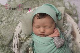 Neugeborenen Outfit, Neugeborenen Set, baby Outfit Kleidung für die Fotografie, Newborn Outfit Mädchen und Junge Wrap Pucktuch Wrappen Mütze in einer Farbe, Body Kleidung wäre auch möglich alles Einheitlich Beanbag Beanbagdecke