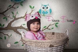 Baby Mädchen Junge Kinder Sitter Strick Mütze Strickmütze, Kleidung Kuchen Matschen, Outfit, Sitzkinder, Wollmütze, Eulenmützen, Äffchen, Kitty, Strickmütze