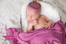 Neugeborenen Strick Outfit Krone Junge Mädchen Set Prinz Prinzessin Fotografie Footshooting Haarband Kopfschmuck Crown Krone Neugeborenenfotografie Requisite Accessoires Baby Newborn