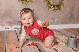 Sitter Baby Outfit, Baby Fotografie Kleidung, Sitzkinder, Rüschen Body Romper, Vintage style, Haarband Taufe, Body Romper Sittersize, Sitter Größe, Sitzkinder Cakesmmash Geburtstag Outfit