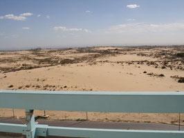 Vue côté gauche sur les dunes