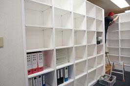 事務所内装工事 書棚制作