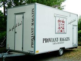 Beschriftung Anhänger Proviant-Magazin Mainz