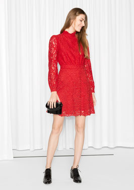 & Other Stories red lace dress
