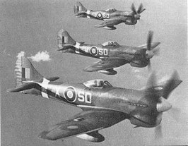 Three Tempests from 501 Squadron.