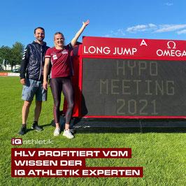 Mehrkämpferin Vanessa Grimm und HLV-Landestrainer Philipp Schlesinger