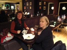 tea with Susan overlooking London Eye