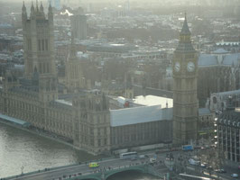 Big Ben, as seen from the London Eye