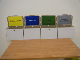 Les différents bacs de tri qu'on peut trouver