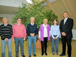 Der neue Vorstand mit Kurt Fröhlich (2.von links)