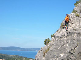 climbing at Brac