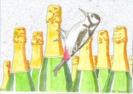 дятел и бутылки шампанского 2