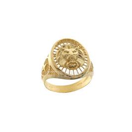 Anello da uomo  in oro  giallo 18 kt a scudo leone sconti prezzi